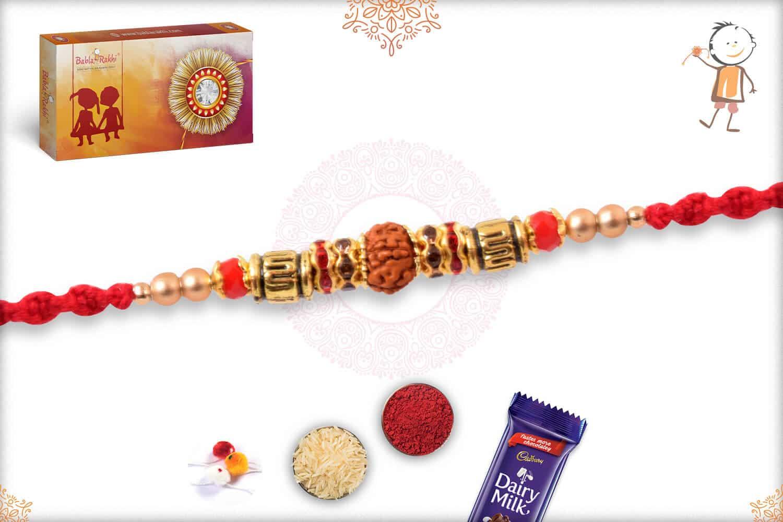 Divine OM with Rudraksh Rakhi 2