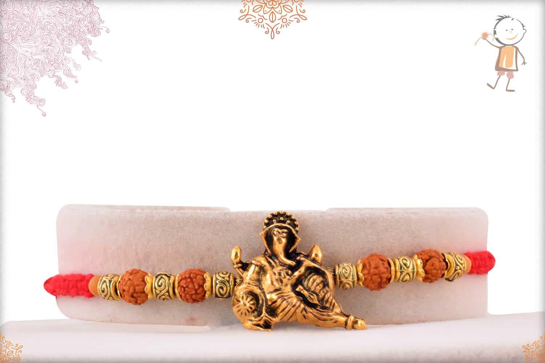 Divine Ganeshji with Rudraksh Rakhi 1