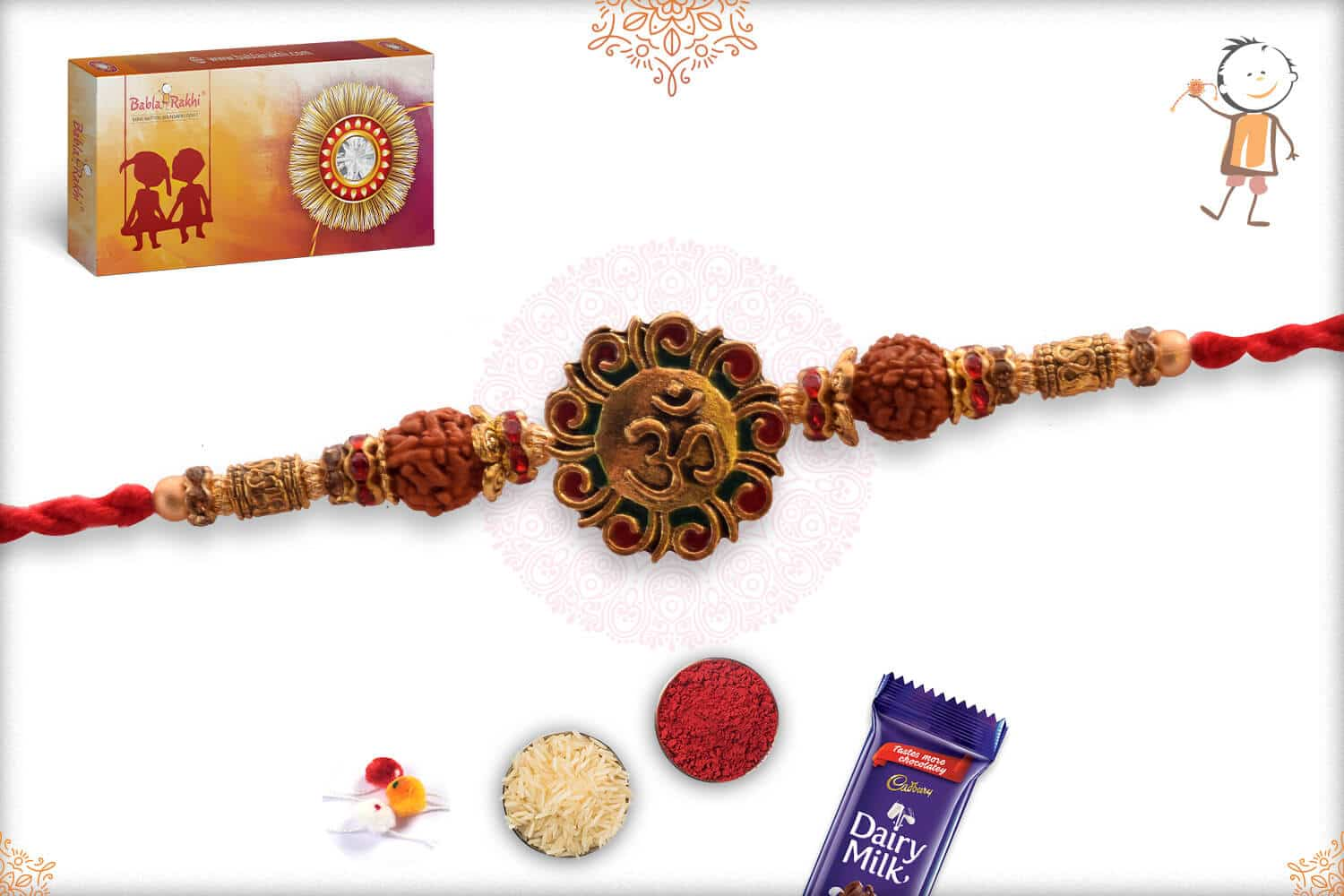 Uniquely Crafted Rudraksh with Golden and Sandalwood Beads 2