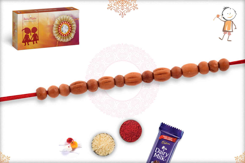 Delicate Aromatic Sandalwood Beads Rakhi 2