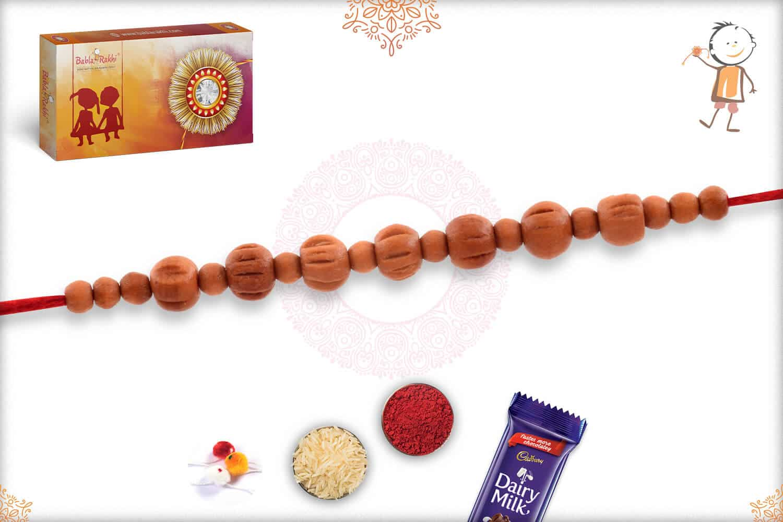 Elegant Aromatic Sandalwood Rakhi 2