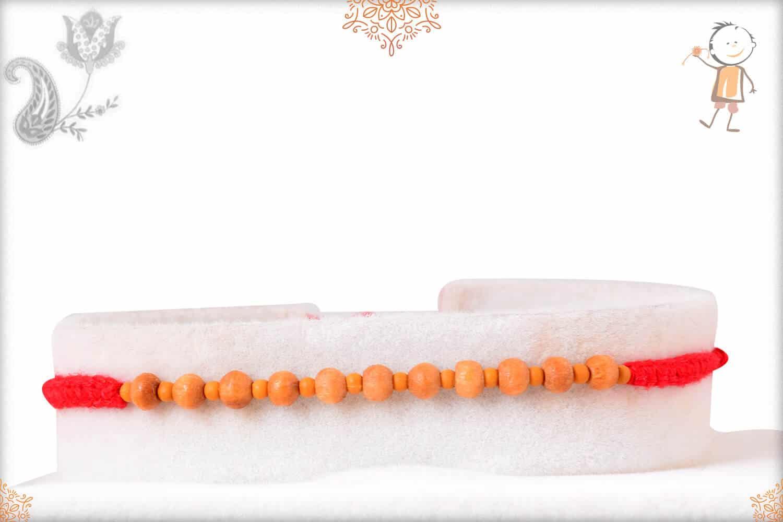 Aromatic Delicate Sandalwood Beads Rakhi 1