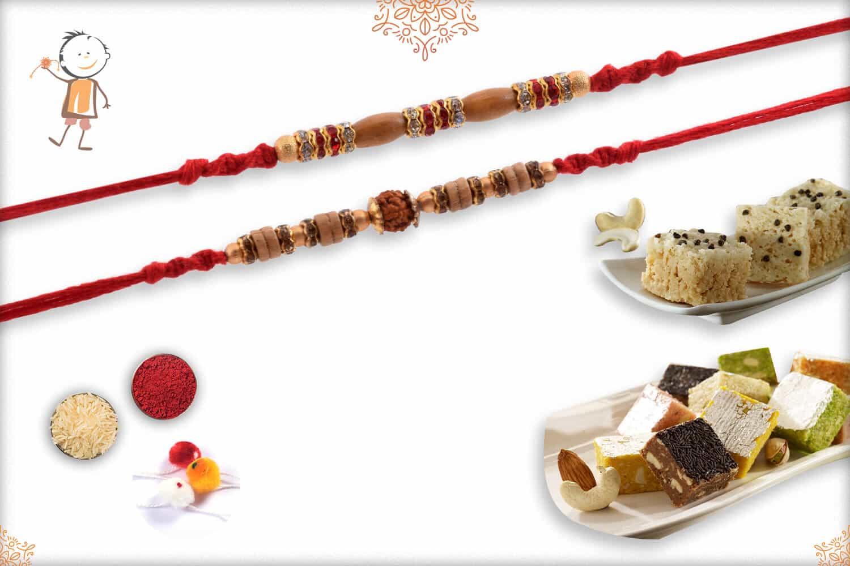 Rakhi with Kaju Maisur & Mix Bites | Send Rakhi Gifts Online 1