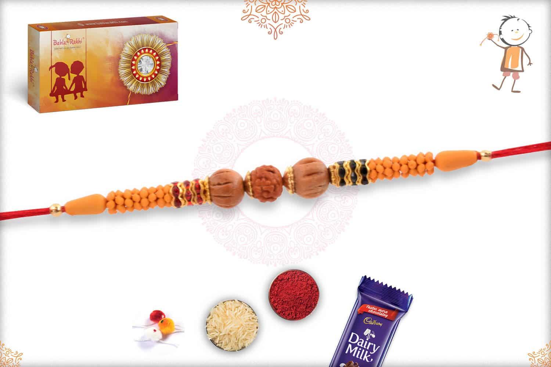 Aromatic Sandalwood Rakhi with Rudraksh 2