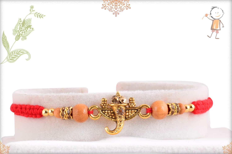 Aromatic Sandalwood Rakhi with Divine Ganeshji 1